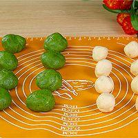 抹茶蛋黄酥的做法的做法图解6