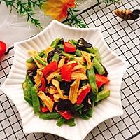 #精品菜谱挑战赛#四季豆烧腐竹+春天的味道的做法图解19