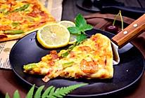 鲜虾芦笋薄底批萨的做法
