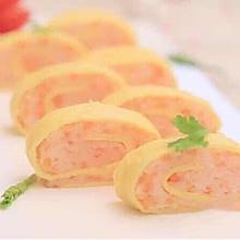 虾蓉鸡蛋卷