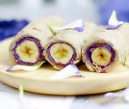 当紫薯爱上香蕉的做法