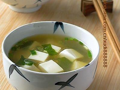 味噌豆腐汤的做法