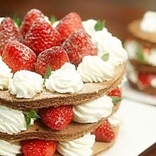 可可草莓裸蛋糕【微体兔菜谱】