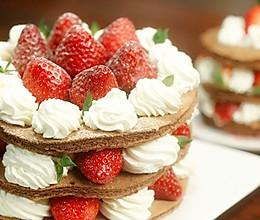 可可草莓裸蛋糕【微体兔菜谱】的做法
