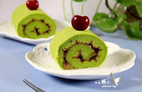 菠菜蛋糕卷#美的烤箱食谱#