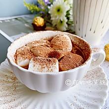 #一道菜表白豆果美食#冬日暖饮 巧克力牛奶棉花糖杯
