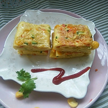 彩蔬鸡蛋卷