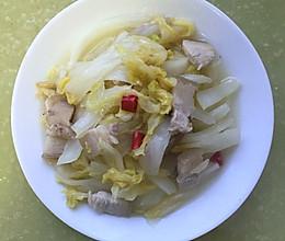 家常圆白菜炒肉的做法