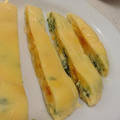 宝宝辅食:南瓜鸡蛋菠菜糕