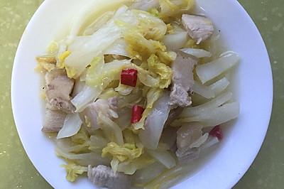 家常圆白菜炒肉