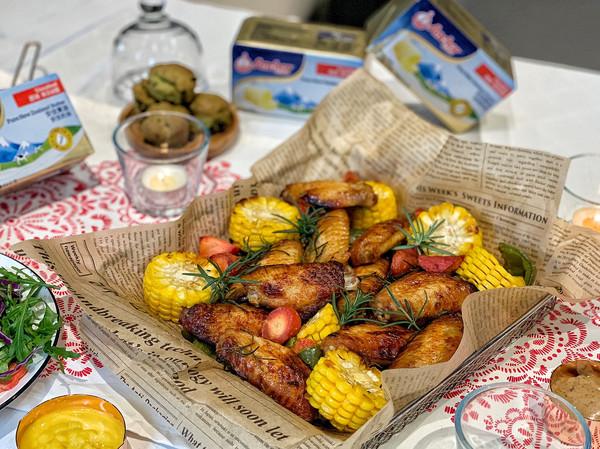 圣诞派对经典小吃:黄油蜜汁鸡翅