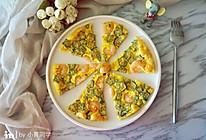 秋葵虾仁鸡蛋饼的做法