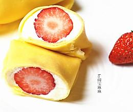 港式草莓班戟的做法