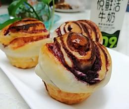 奶香紫薯小面包