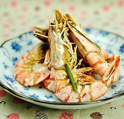 香茅海盐烤大虾