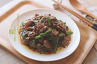 鸡肝炒韭菜