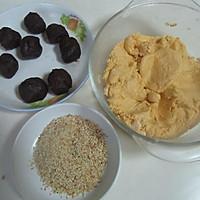 芝麻红薯豆沙饼的做法图解5