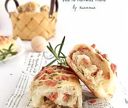 香葱火腿肉松面包——颜值担当,香气四溢的做法