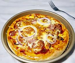零失败的培根香菇披萨(含披萨酱、饼底做法)