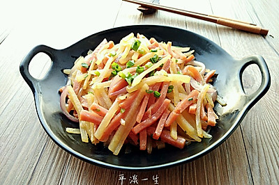 洋葱火腿土豆丝