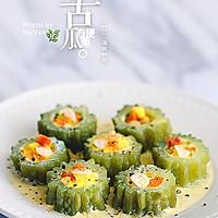 蛋酿苦瓜#小虾创意料理#的做法图解8
