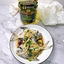 #橄榄中国味 感恩添美味#清蒸白鲳鱼