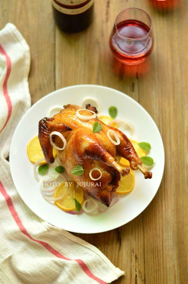 柠香烤全鸡的做法