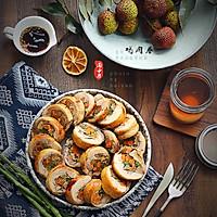 杂蔬核桃鸡肉卷#松下电烤箱美食#的做法图解18