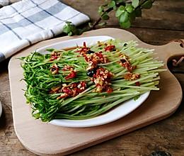 #晒出你的团圆大餐#剁椒凉拌豌豆苗-健康美味又爽口的小凉菜的做法