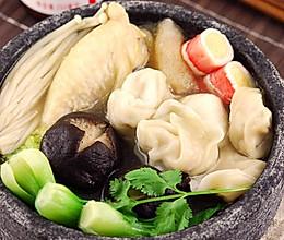 鲜菌鸡腿云吞汤煲的做法