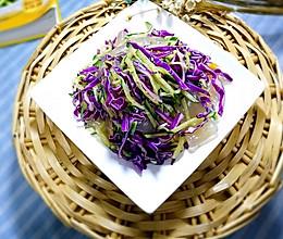 凉拌拉皮紫甘蓝的做法
