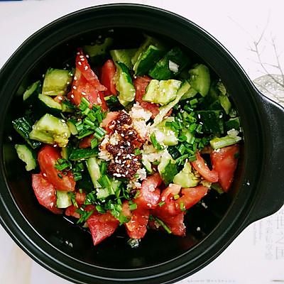 凉拌黄瓜西红柿