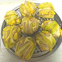 五彩蔬菜花卷