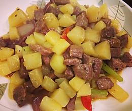 黑椒土豆焖牛肉粒的做法