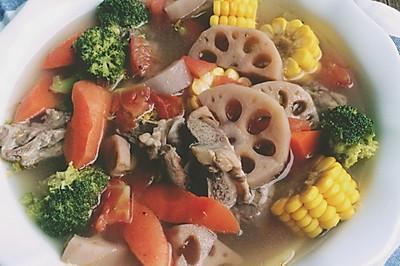 彩蔬玉米猪骨汤