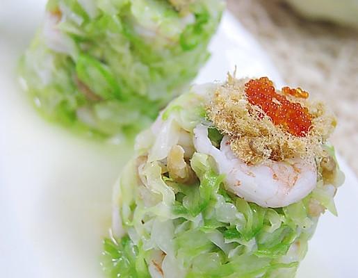 双虾包菜墩的做法