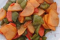 青椒火腿土豆片的做法