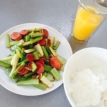 火腿炒芹菜