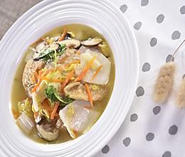 面筋白菜煮,拌饭来吃,呼噜呼噜就一大碗的做法