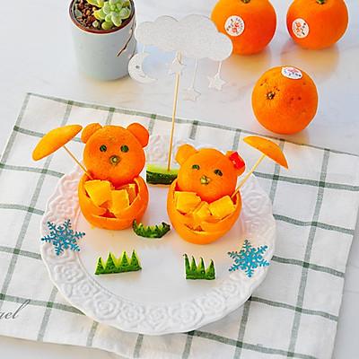 小熊橙子果盘