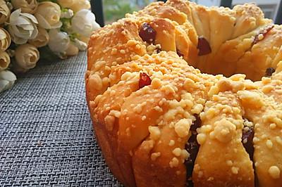 蔓越莓酥粒手撕面包