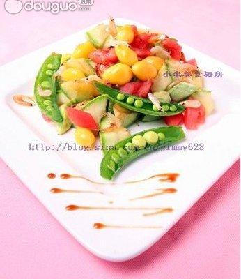 银杏蜜豆炒鲜蔬的做法