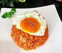 #营养小食光#辣白菜炒饭#十分钟快手美味早餐的做法