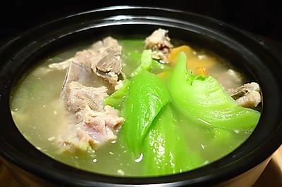 砂锅咸骨芥菜煲