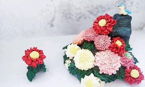 秋菊 古韵奶油裱花蛋糕#马卡龙·奶油蛋糕看过来#的做法