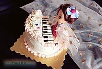 钢琴娃娃生日蛋糕裱花蛋糕#相约MOF#的做法