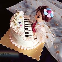 鋼琴娃娃生日蛋糕裱花蛋糕#相約MOF#