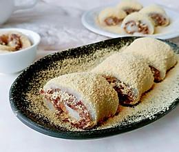 豆面红豆糯米卷的做法