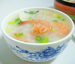 蛤蜊明虾粥的做法