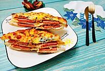 #餐桌上的春日限定#火腿肉松三明治的做法